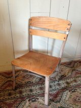 Antique Child Chair steel x wood