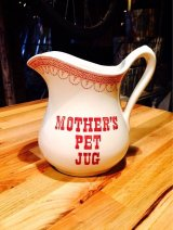Vintage Mothers Pet Jug Ironstone Pitcher Royal Crownford